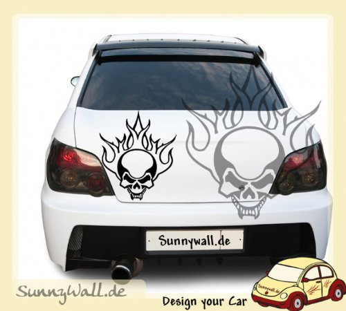 Adesivo auto-Tribal Vampire Skull Teschio