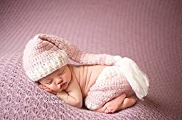 Pink and Ivory Crochet Newborn Mohair Shorts with Matching Hat Photography Prop, Baby Girl Props, Newborn Photo Props, Handmade Clothing, Knit