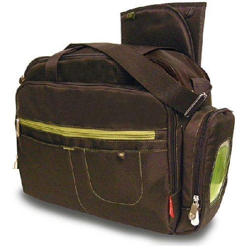 Fisher-Price - Carryall Diaper Bag, Brown front-90395