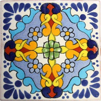 2x2 36 pcs Primavera Talavera Mexican Tile