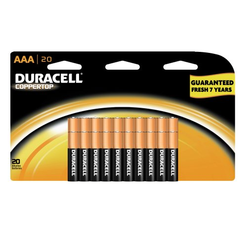 Duracell AAA Alkaline Batteries, 20 Count