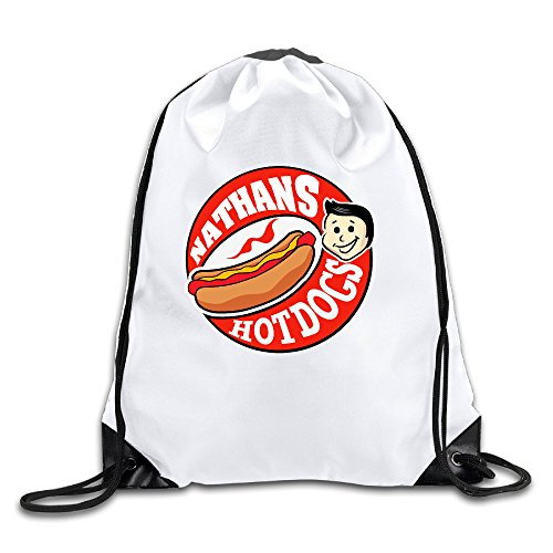 [Candi Delicious Nathan's Hot Dog Sports Bag Rucksack White Size One Size] (Minecraft Costume Contest 2016)
