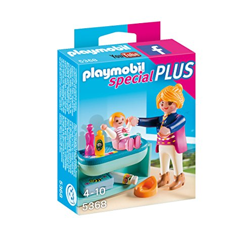 PLAYMOBIL Mother and Child with Changing Table Playset - 1