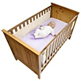 Safe Dreams 2 Sided Cot Wrap with 100% cotton surface (Ivory)