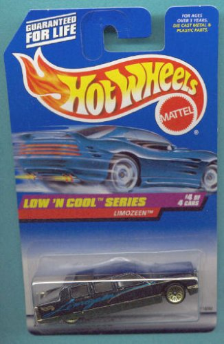 Mattel Hot Wheels 1998 1:64 Scale Low N Cool Series Black Limozeen Die Cast Car 4/4