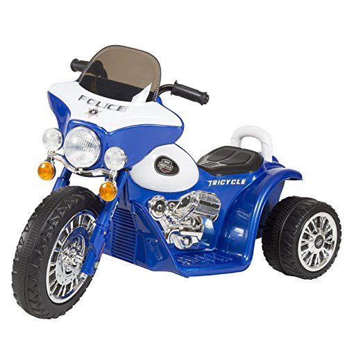 New Lil Rider Three Wheel Police Battery Operated Chopper Trike 2-4 Yrs Blue PUNER Store (Chopper Wear compare prices)
