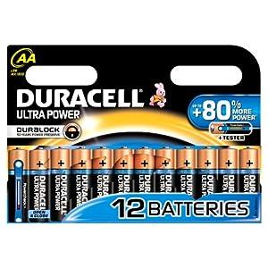 Duracell - Pile Alcaline - Duralock AAx12 Ultra Power (LR6)