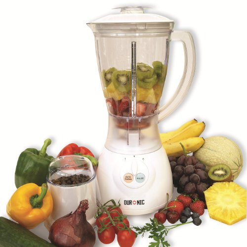 Duronic BL400 White 1.5 Litre Jug Blender and Multi-Mill. 2 Speed efficient 400W motor - Autoclean and pulse function