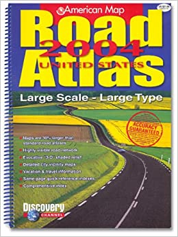 American Map Road Atlas Large Scale Large Type