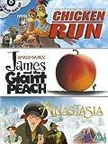 Chicken Run/James And The Giant Peach/Anastasia [DVD] [1996]