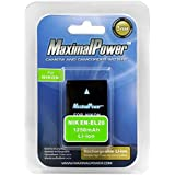MaximalPower Rechargeable Li-ion Replacement Battery for Nikon EN-EL20/ENEL20, Nikon Coolpix 1 J1, J2, J3, AW1, S1, Coolpix A DSLR Blackmagic Cameras
