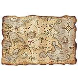 Plastic Treasure Map Party Accessory (1 count) (1/Pkg)