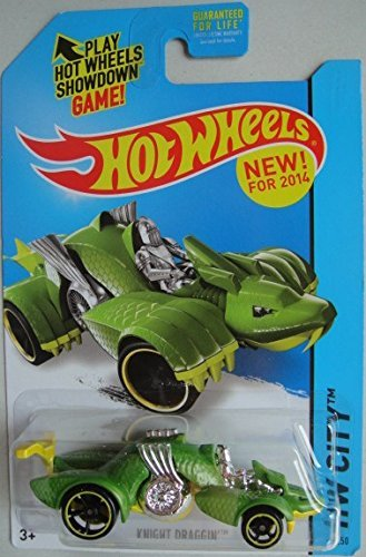 HOT WHEELS 2014 RELEASE GREEN KNIGHT DRAGGIN DIE-CAST