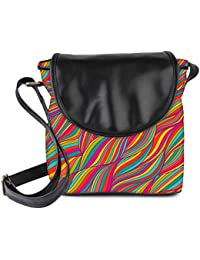 Snoogg Vector Seamless Abstract Hand Drawn Pattern Womens Sling Bag Small Size Tote Bag
