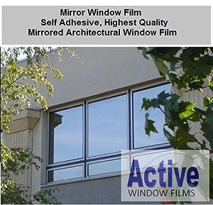 Silver reflective window film solar control privacy for 2 way mirror window film