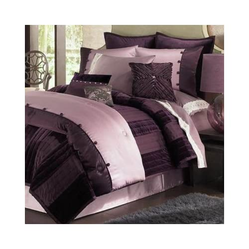 Amazon.com: DAISY FUENTES Lilac GLAM Purple 4PC QUEEN Comforter SET