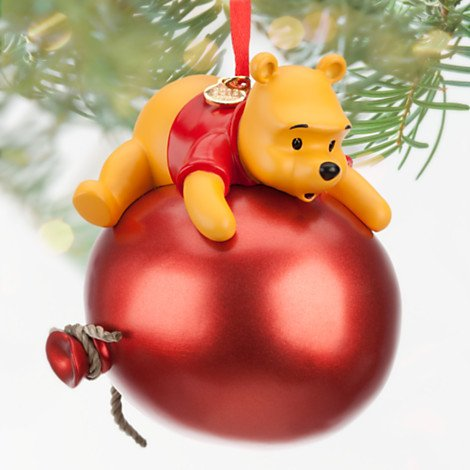 Winnie the Pooh Red Balloon Christmas Ornament Gift for Disney Fans