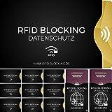 RFID Blocking Schutzhülle (12 Stück) für Kreditkarte, Personalausweis, EC-Karte, Reisepass, Bankkarte, Gesundheits-Ausweis etc. - 100% Schutz durch Abschirmung von kontaktlosen RFID & NFC Funk-Chips