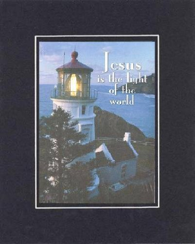 Jesus Is The Light Of The World. . . 8 X 10 Inches Biblical/Religious Verses Set In Double Beveled Matting(Black On Black) - A Timeless And Priceless Poetry Keepsake Collection front-856664