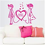 Topro Sweet World Happy Couple Love Music Wall Art Stickers Decal for Home ...