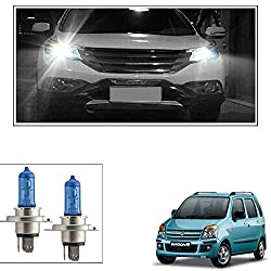 Vheelocityin White Light 5000K H4 Headlight Bulb Car Bulb - 2PC for Maruti Suzuki Wagon R 1.0 Old