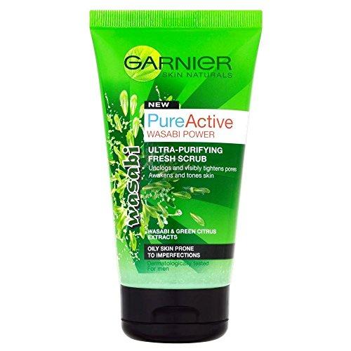Garnier Pure Power Wasabi Attiva Ultra Scrub Purificante Fresco (150ml) (Confezione da 6)