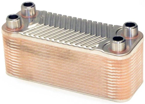 "B3-12 30 Plate 1/2"" Male NPT Stainless Steel Copper Brazed Plate Heat Exchanger"