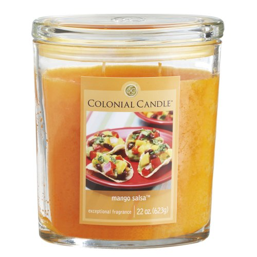 Colonial Candle Mango Salsa 22 oz Scented Oval Jar Candle (Colonial Candle Mango Salsa compare prices)