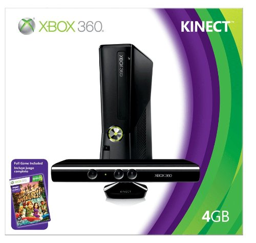 Xbox 360 4GB Console with Kinect (Xbox Kinect Sensor Xbox 360 compare prices)