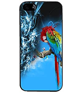 PrintDhaba Colourful parrot D-4529 Back Case Cover for APPLE IPHONE 5 (Multi-Coloured)