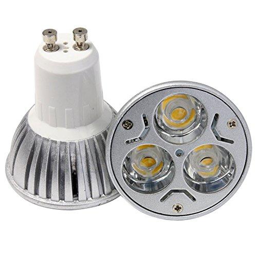 S6Store® 3W 110V Gu10 Dimmable Warm White Led Light Die-Casting Spotlight For Home Garden Business Lighting