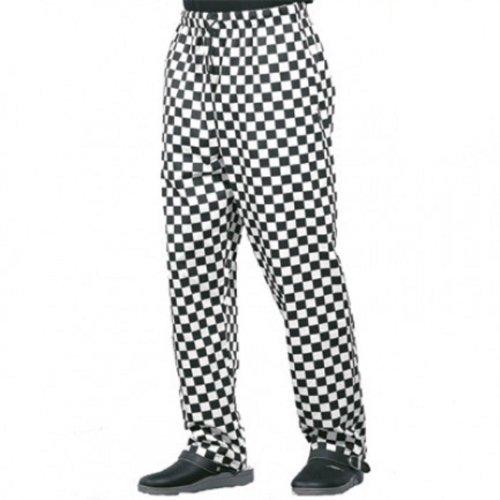 dennys-dc28-unisex-chefs-trousers-s-xxxxl-black-white-small-28-30-waist