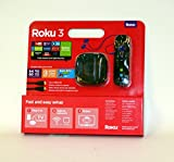 Roku 3 Streaming Media Player with Motion Remote, HDMI Cable, $10 Movie/TV Credit