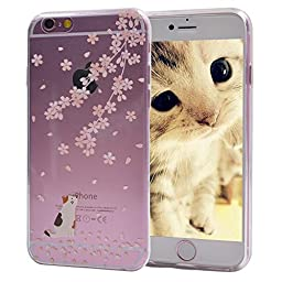 iPhone 6S Case, Turf Potpourri Series Protective Soft Flexible TPU Transparent Skin Scratch-Proof Bumper Clear Back Cover for Apple iPhone 6S 6 4.7 Inch (Tabby Cat)