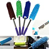 AND-Generic 1 Piece Multipurpose Microfiber Cleaning Duster with EXTENDABLE Telescopic Wall Hanging Handle - For Household, Cars, Window, Furniture, etc,