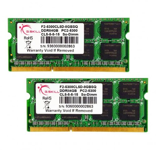 8GB G.Skill DDR2 PC2-5300 laptop dual channel memory kit (5-5-5-15) SQ Series