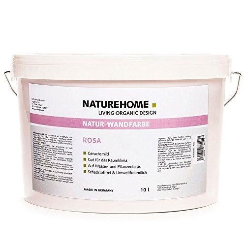 naturehome bio wandfarbe rosa 10 l naturfarbe l sungsmittelfrei kologisch spar baumarkt. Black Bedroom Furniture Sets. Home Design Ideas