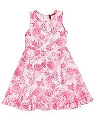 SuperYoung Girls' Neon Pink Dress