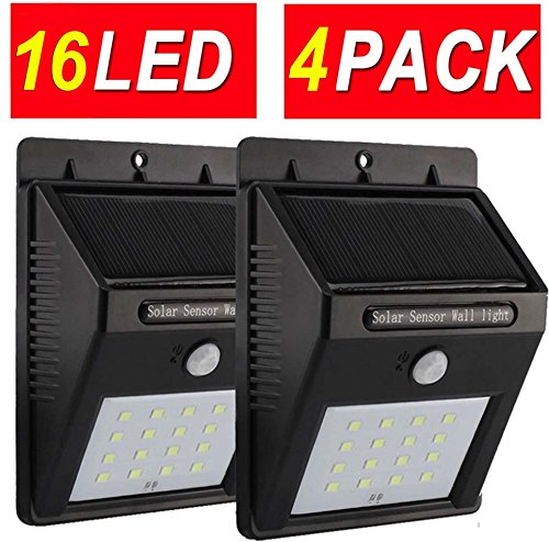 4Pack 16LED Super Bright Upgraded Sogrand Solar Motion Sensor Light Solar Sensor Light Solar Lights Outdoor Metal Detector (Motion Sensor Driveway Light compare prices)