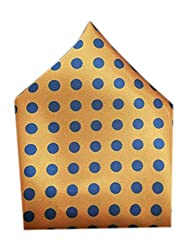 BLACKSMITHH POLKA DOT POCKET SQUARE