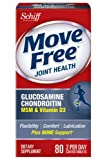 Move Free Advanced Glucosamine Chondroitin Joint Supplement with Hyaluronic Acid, MSM and Vitamin D3, 80 Count (Packaging May Vary)