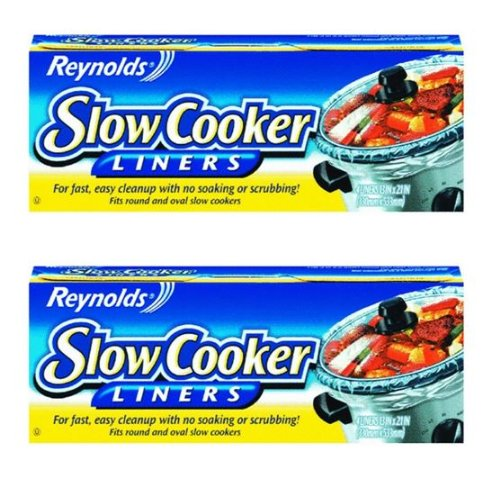 Cleaning up Best Slow Cooker Spicy Pulled Pork is easy with Reynolds Slow Cooker Liners