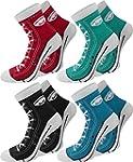 4 Paar Socken im chuck-Design mit vie...