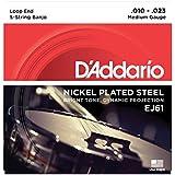 D'Addario ダダリオ バンジョー弦 ニッケル Medium 5弦 .010-.023 EJ61 【国内正規品】