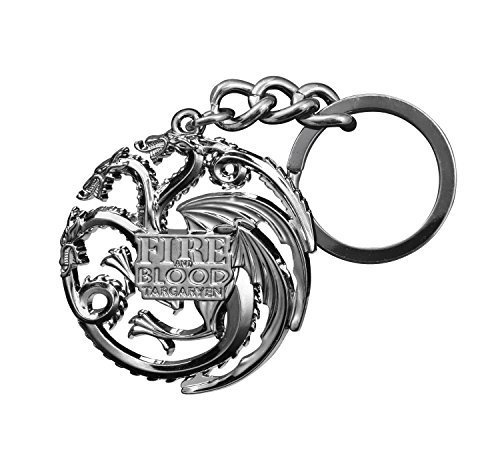 Game of Thrones Targaryen Dragon Die-Cast Keychain (Gun Metal) - 1