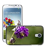 Hot Style Cell Phone PC Hard Case Cover M00310539 Common Columbine Flower Purple Plant Samsung Galaxy S4 S IV SIV i9500