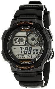 Casio Men's AE1000W-1AV Black Resin Quartz Watch