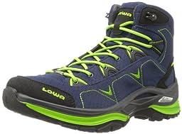 Lowa Women\'s Ferrox Goretex Mid Hiking Boot,Denim/Lime,6.5 M US