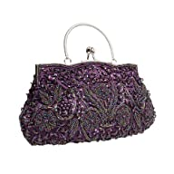 BMC Purple Beaded Sequin Design Metal…