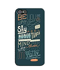 EU4IA Inspirational Quote Pattern MATTE FINISH 3D Back Cover Case For iPhone 4 - D295